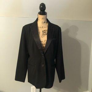 EUC!  Black Lauren Conrad women's tuxedo blazer